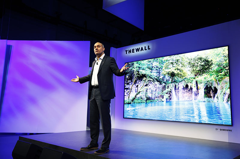 CES 2018 Samsung The Wall TV Micro LED 146 polegadas 2