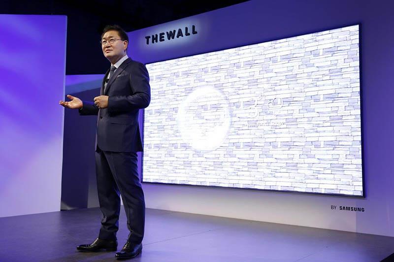 Televisão modular Samsung The Wall