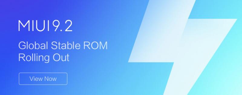 Xiaomi MIUI 9.2 Global estável ROM