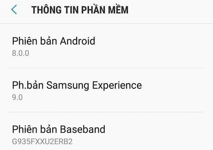 Android Oreo Samsung Galaxy S7 edge