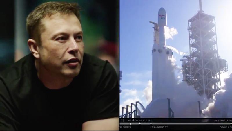 Esta foi a reação de Elon Musk ao ver a descolagem de Falcon Heavy