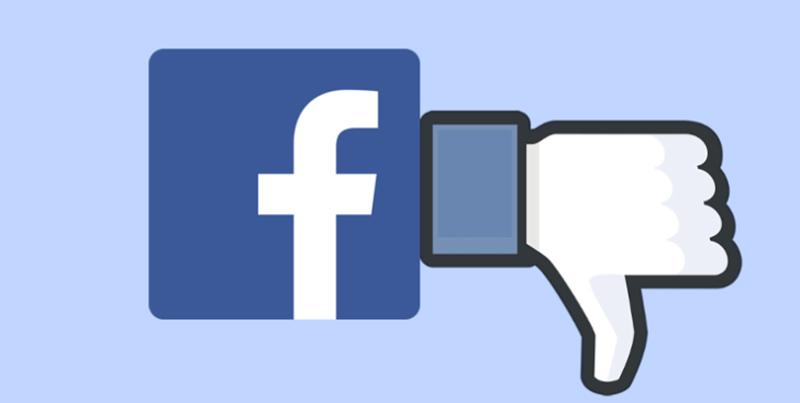 Facebook botão Dislike