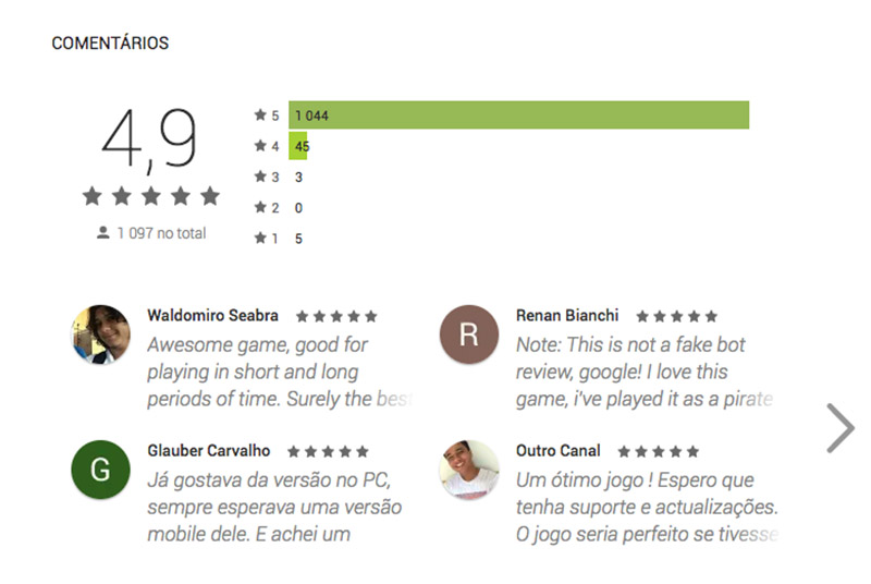 Google Play Store jogo Android