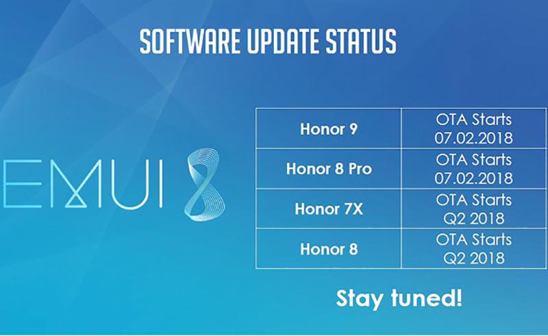 Huawei Honor 9 Huawei Honor 8 Pro Android Oreo EMUI 8.0