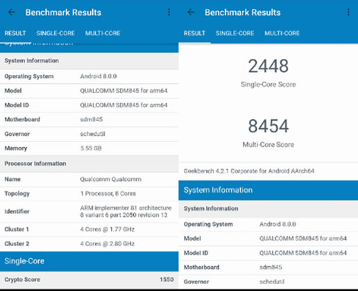 Qualcomm Snapdragon 845 Exynos 8895 Apple A11 Kirin 970 1