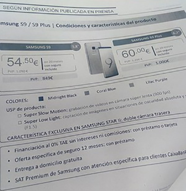 Samsung Galaxy S9 Android Preço
