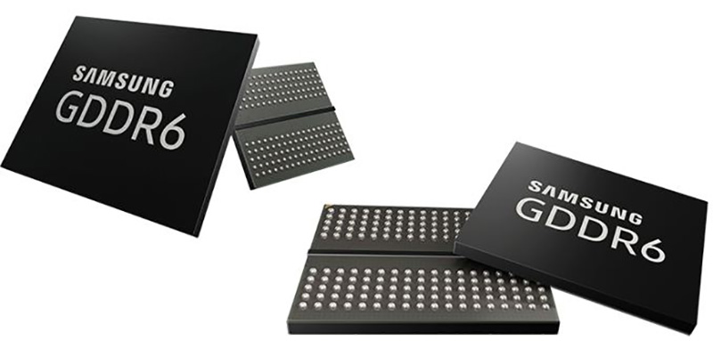 stock de memória Samsung produção memórias GDDR6 1 trimestre