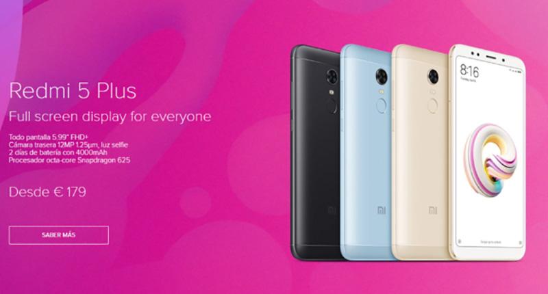 Xiaomi Redmi 5 Plus Android Oreo Espanha