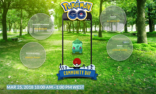 Pokémon GO Shiny Lugia Community Day Bulbasaur