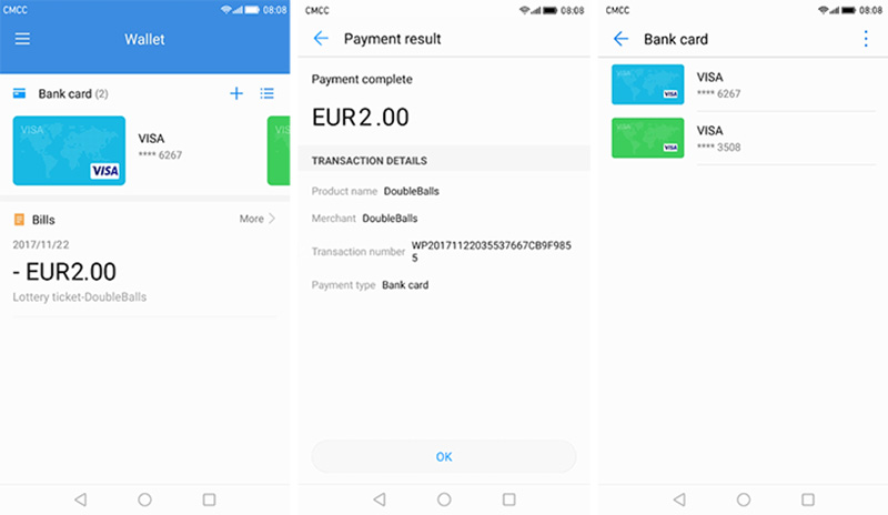 Google Play Store Android Huawei Wallet