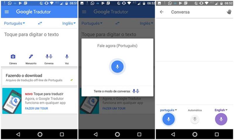 Google Tradutor Android App