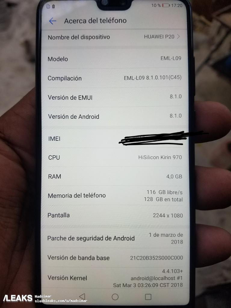 Huawei P20 Android