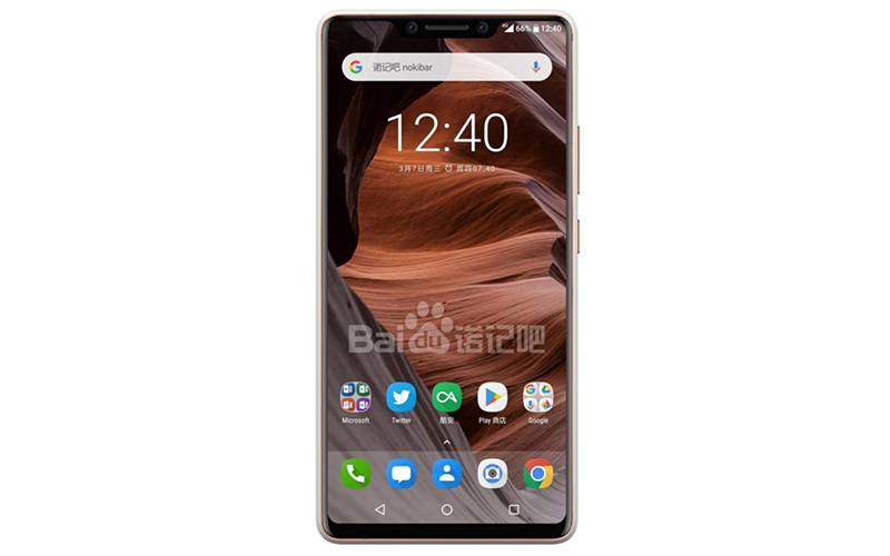 Nokia 9 smartphone android notch
