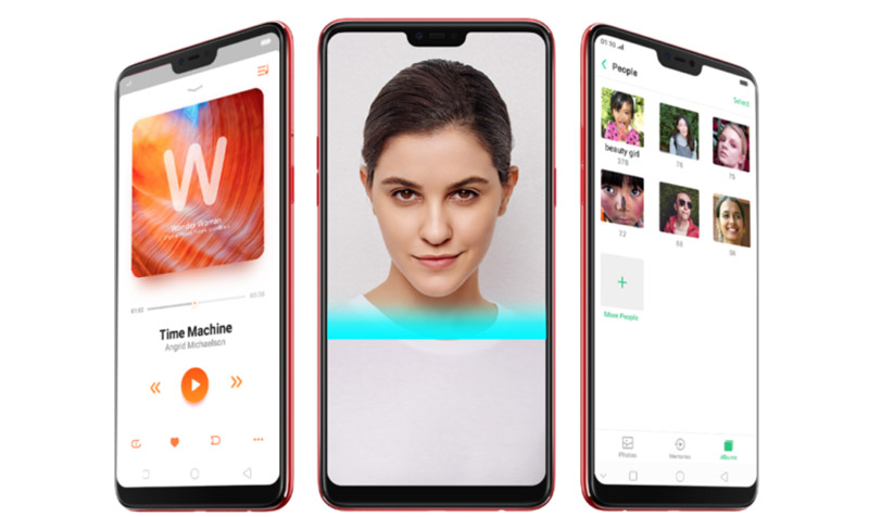 OPPO F7 smartphone Android Oreo