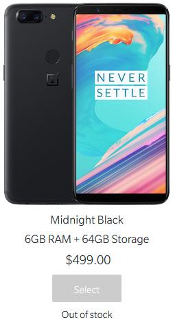 OnePlus 5T OnePlus 6 Android EUA