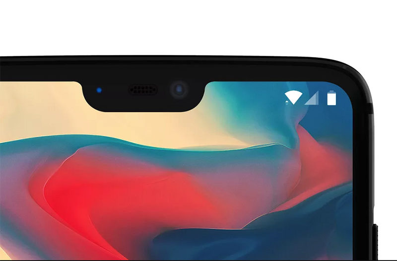 OnePlus 6 Android Oreo notch iPhone X
