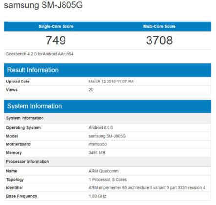 Samsung Galaxy J8 Android Oreo