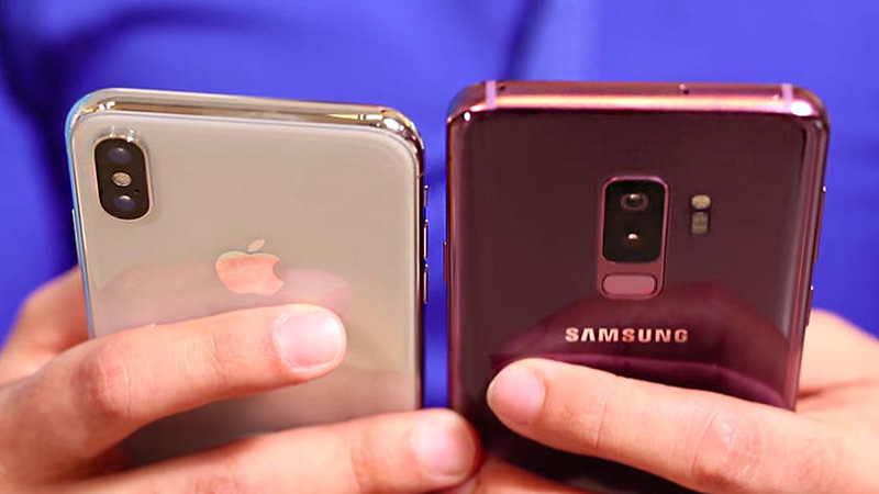 Samsung Galaxy S9 Apple iPhone X Cnet Android iOS