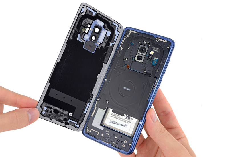 Sony Samsung Galaxy S9 Plus Android iFixit 1