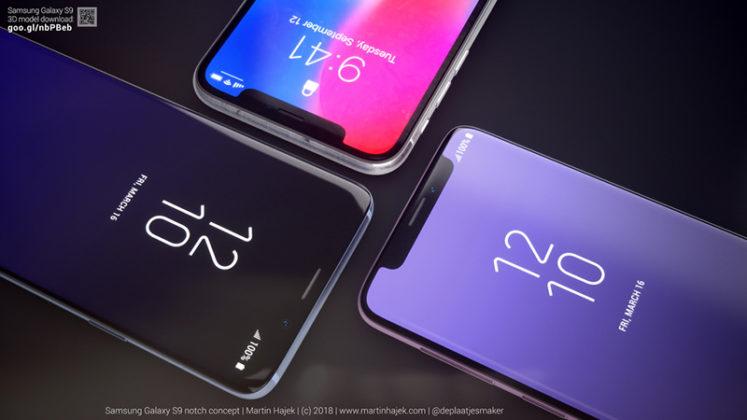 Samsung Galaxy S9 notch Apple iPhone X 4