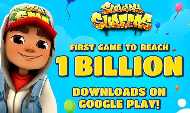Google Play Store: Subway Surfers atinge mil milhões de downloads