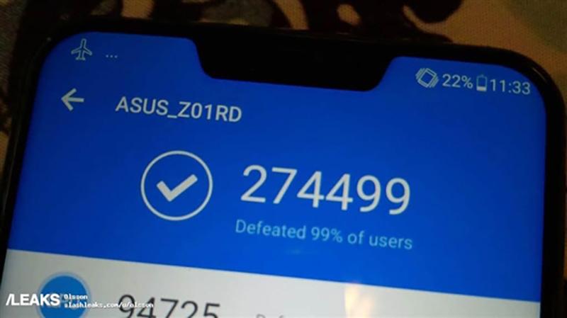 ASUS Zenfone 5Z Xiaomi Mi MIX 2s AnTuTu pontuação