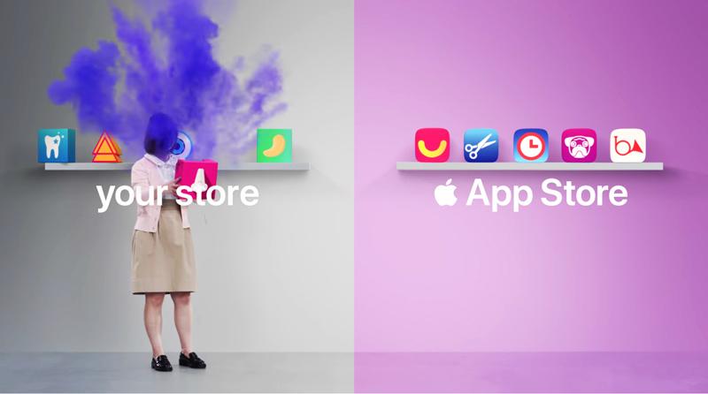 Publicidade da Apple critica as aplicações Android da Google Play Store