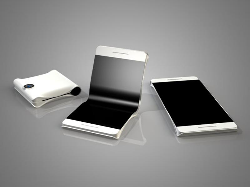 Ecrã OLED dobrável futuro smartphones ecrãs ecrã Ecrã OLED