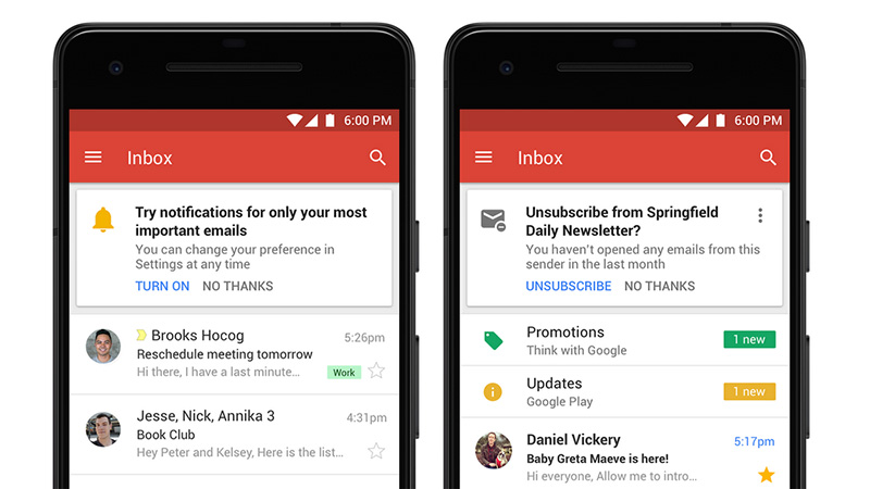 Gmail da Google Android iOS
