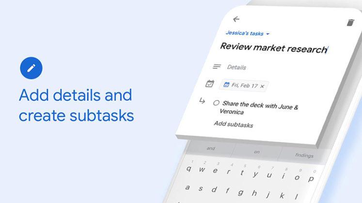 Google Tasks Android iOS da Apple