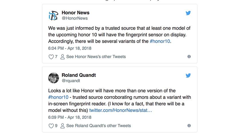 Huawei Honor 10 ecrã