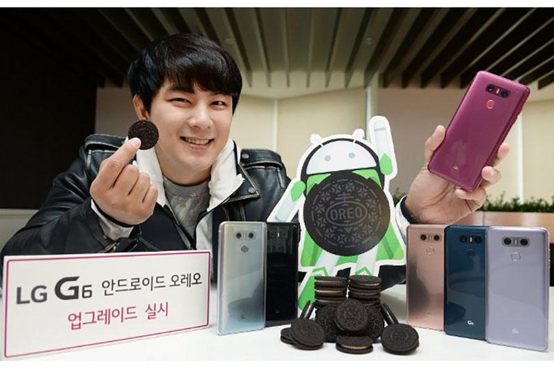 LG G6 LG G5 Android Oreo