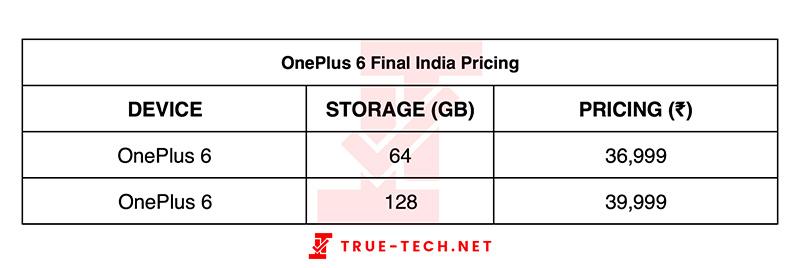 OnePlus 6 Android Oreo preço
