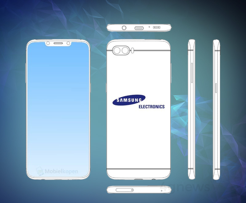 Samsung Galaxy Note 9 monocelha