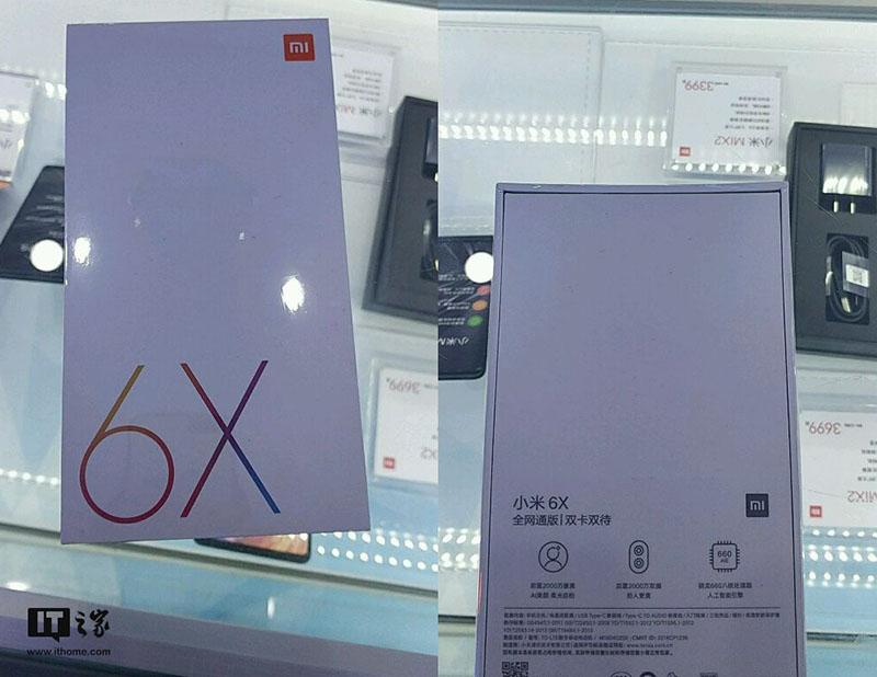 Snapdragon 660 Xiaomi Mi 6X Android Oreo
