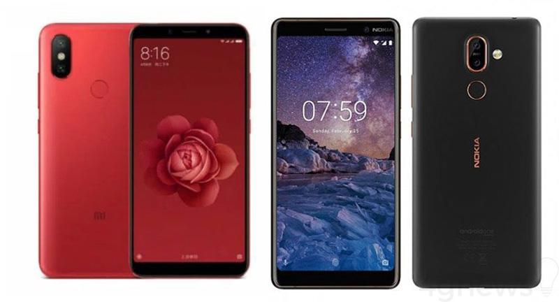 Xiaomi Mi 6X Nokia 7 Plus