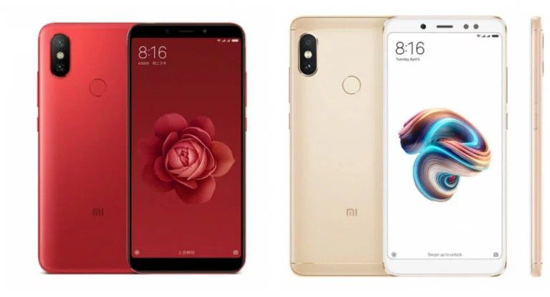 Xiaomi Mi 6X vs Xiaomi Redmi Note 5 Pro