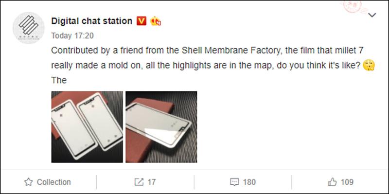 Xiaomi Mi 7 ecrã Android Oreo Google