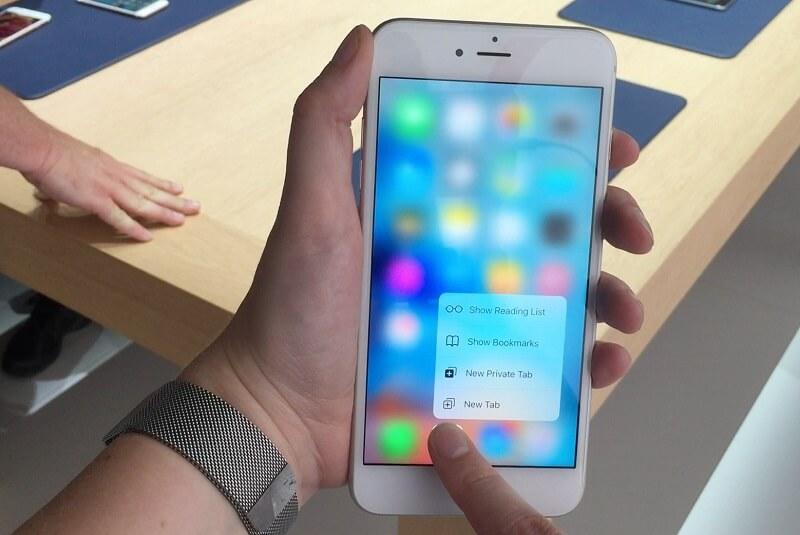 3D Touch da Apple num iPhone