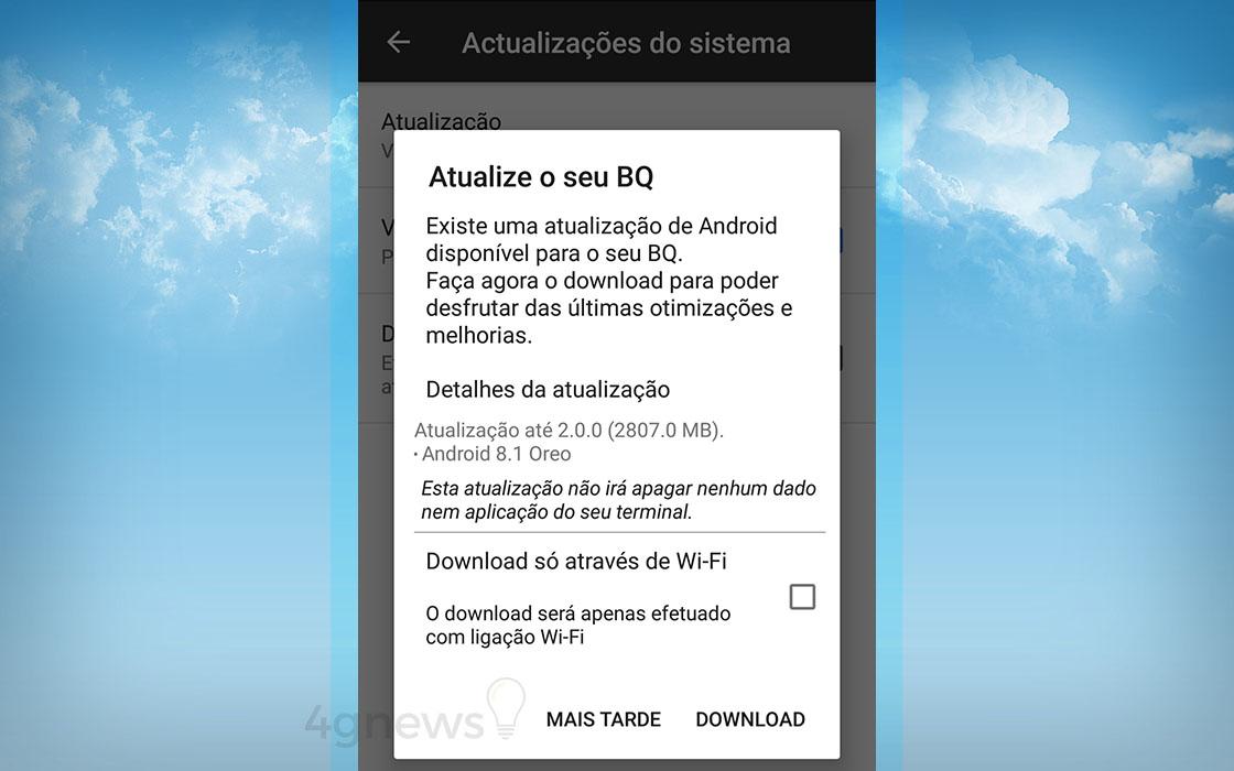 Android Oreo BQ Aquaris X