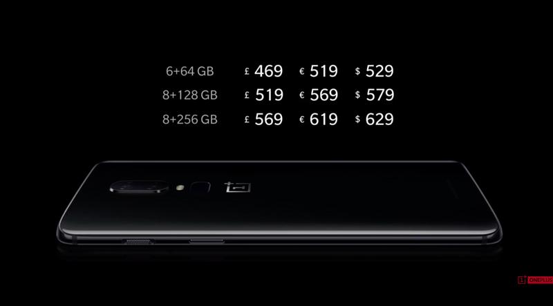 OnePlus 6 - Preços e datas de chegada do novo topo de gama Android