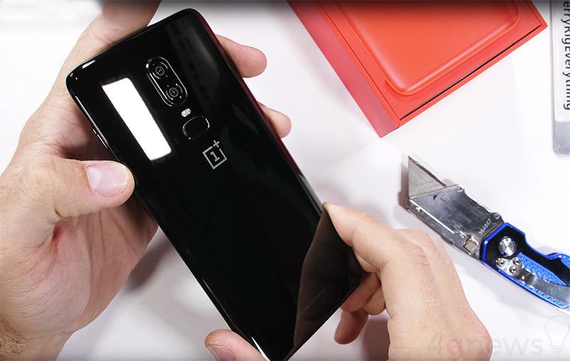 smartphone vidro resistente vidro OnePlus 6 teste de resistÊncia