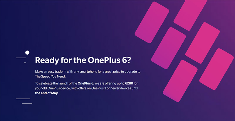 OnePlus 6 trade-in Android Oreo Google