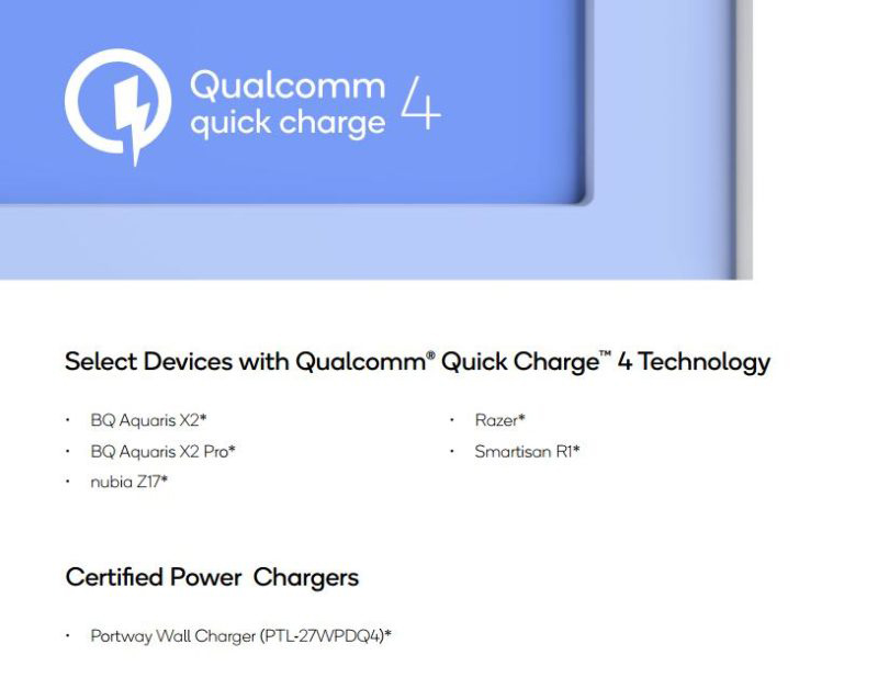 Qualcomm Xiaomi Mi 8 Android Quick Charge