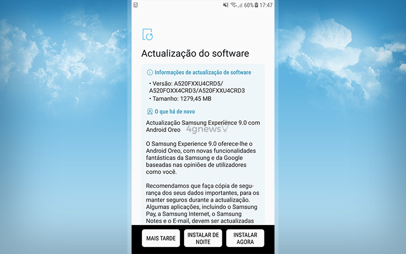Samsung Galaxy A5 2018 Android Oreo Google