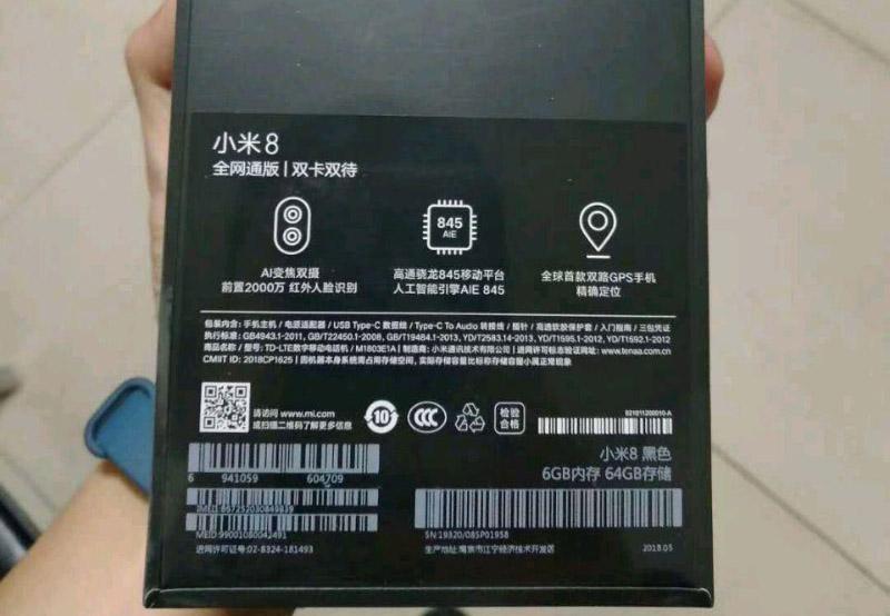 Xiaomi Mi 8 Android Oreo Snapdragon 845 4gnews caixa