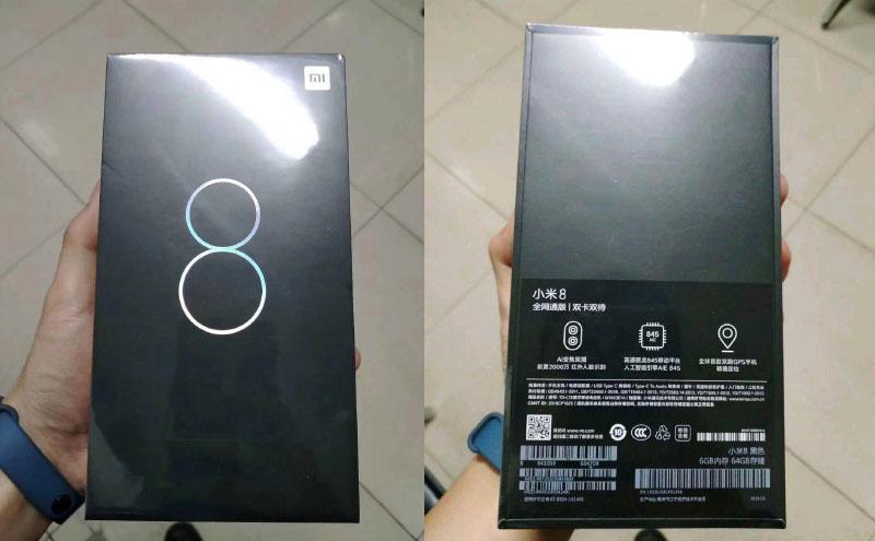 Xiaomi Mi 8 Android Oreo Snapdragon 845 caixa