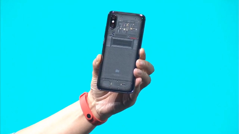 Xiaomi Mi 8 MIUI 10 Xiaomi Smart Band 3 transparente