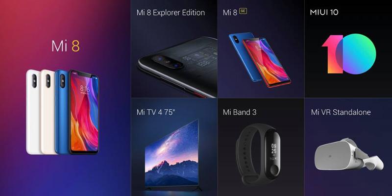 Xiaomi Mi Band 3 Xiaomi Mi 8