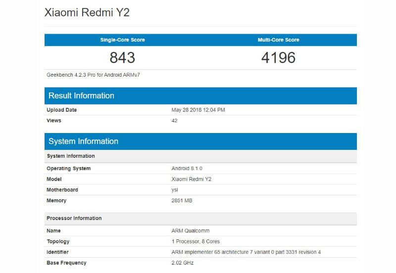 Xiaomi Redmi Y2 Xiaomi Redmi S2